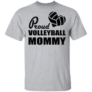 Proud Volleyball Mommy Design Tshirt