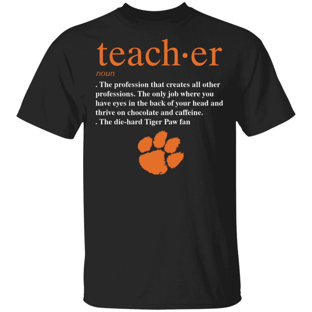 NCAA - Teacher Clemson Tiger_Paw Fan Funny T-Shirt