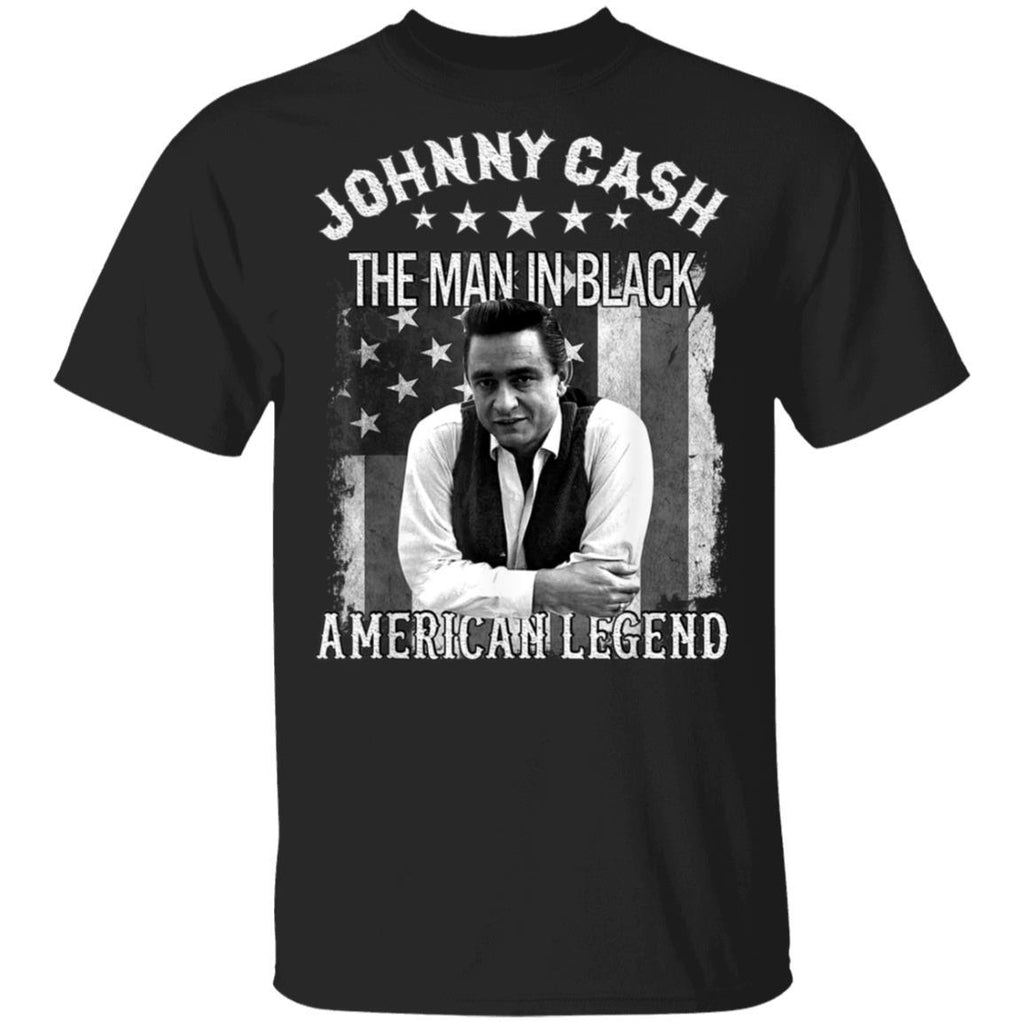 The Man In Black Johnny Cash Funny American Legends T-Shirt