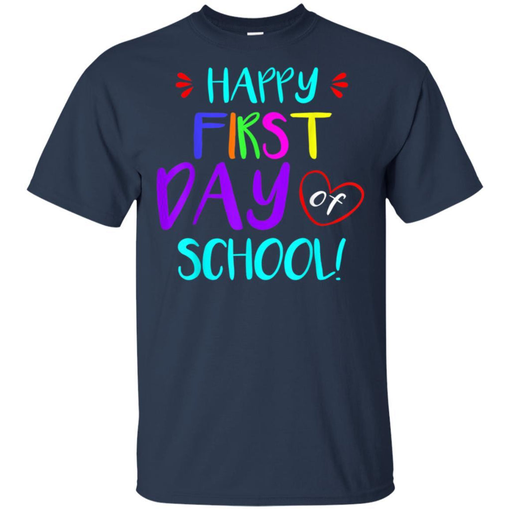 Happy First Day of School Teachers Students Gift T-shirt