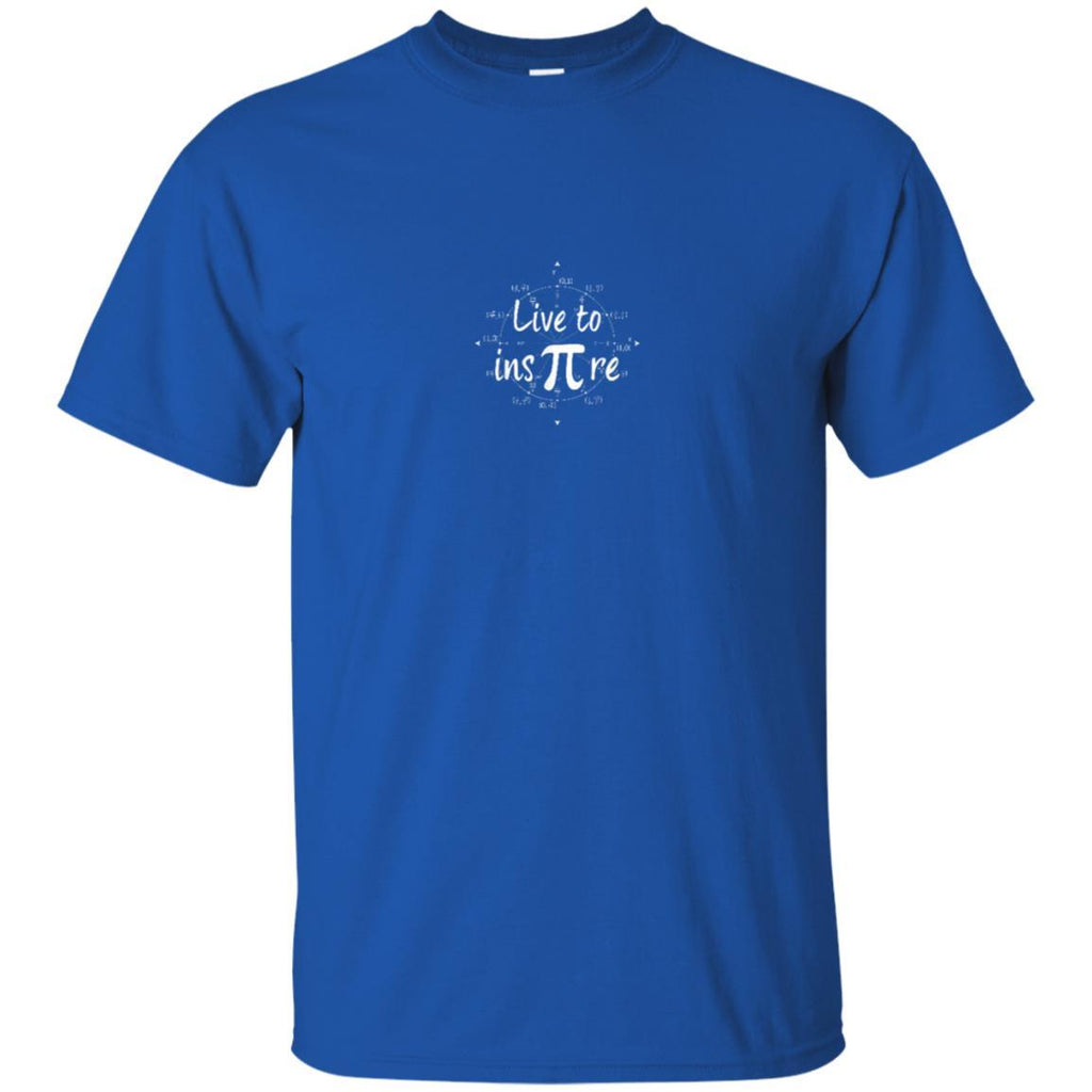 Live to Inspire Pi Day T Shirt Gift For Student Teacher Men