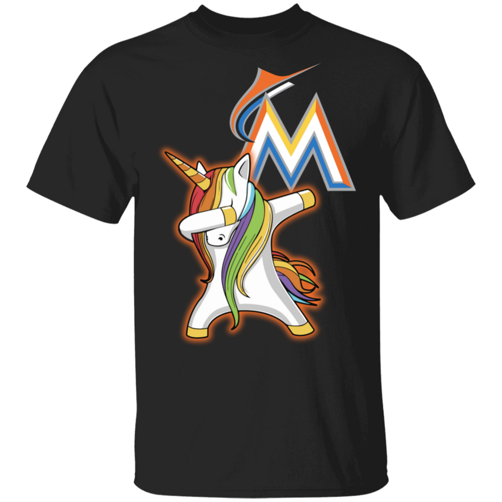 MLB Miami Marlins Baseball Dabbing Unicorn T-shirt