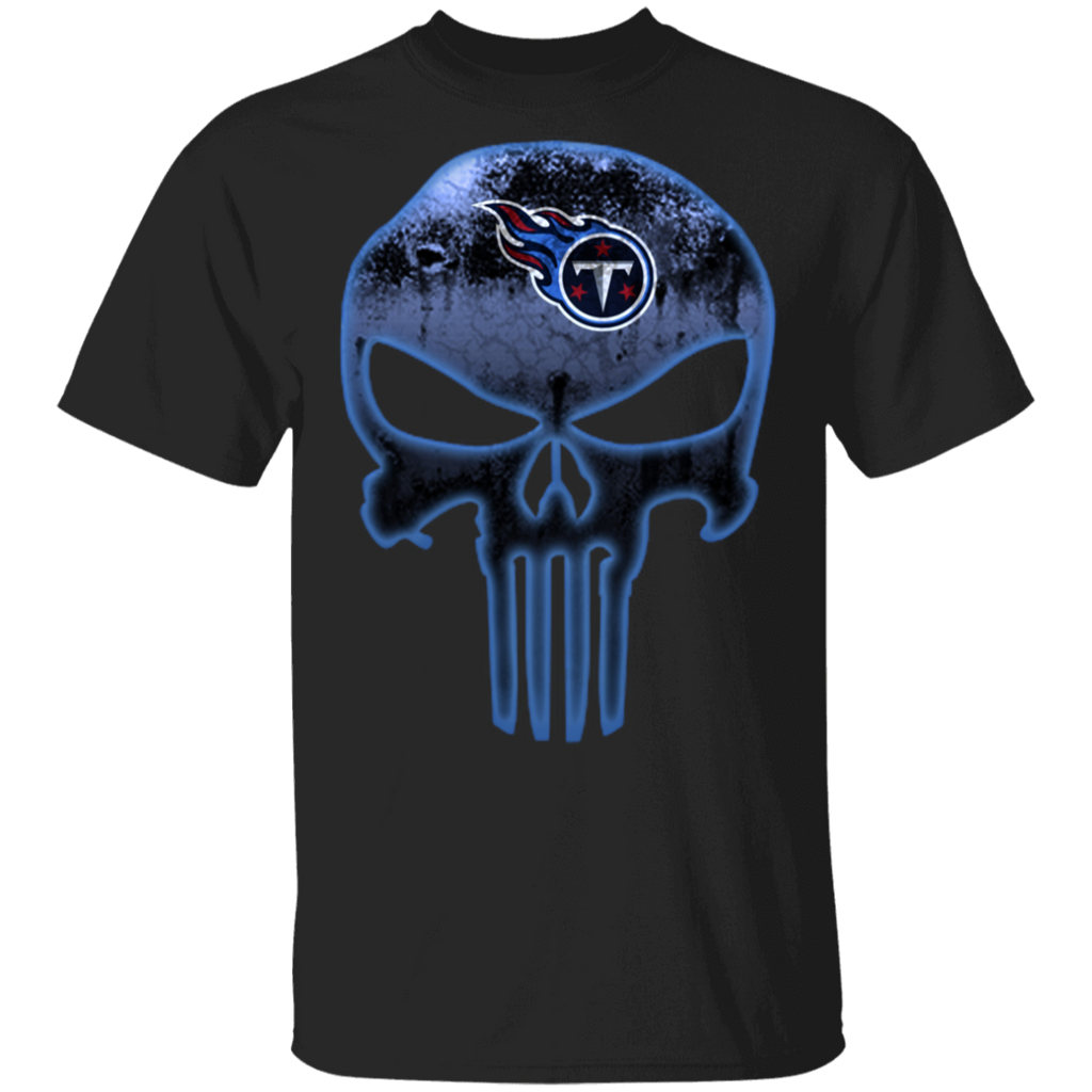 NFL - Tennessee Titans Football The Punisher Skull T-Shirt