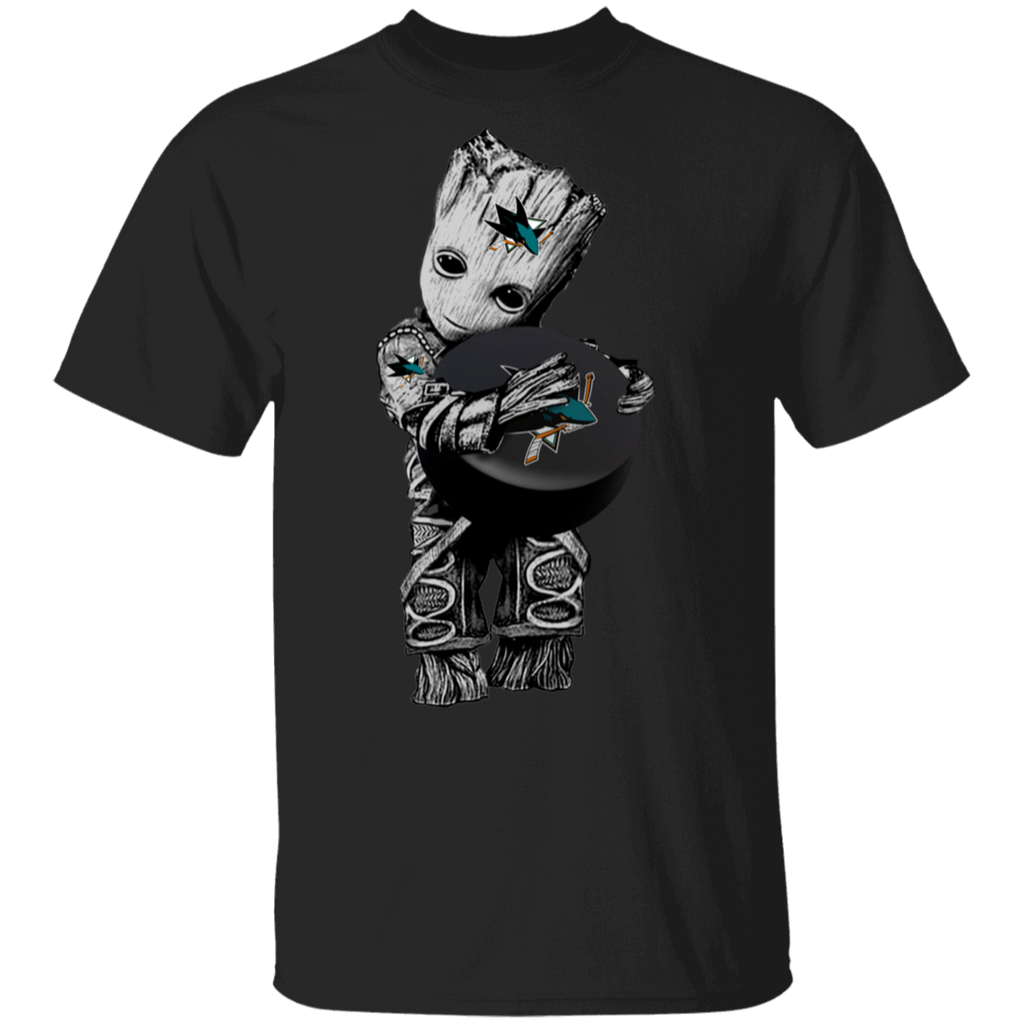 NHL - San Jose Sharks Guardians of the Galaxy Groot Hockey T-Shirt