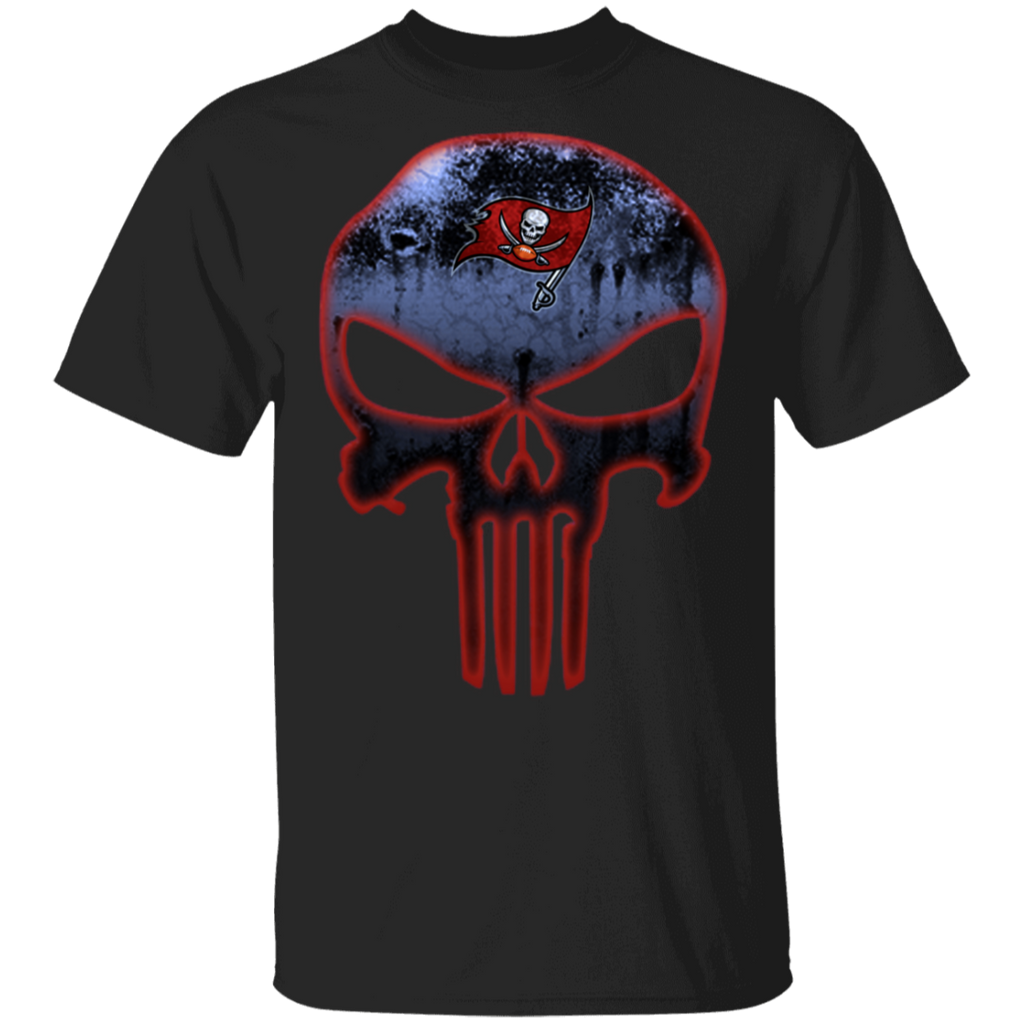 NFL - Tampa Bay Buccaneers Football The Punisher Skull T-Shirt