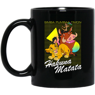 Disney Lion King Classic Hakuna Matata Black Mug