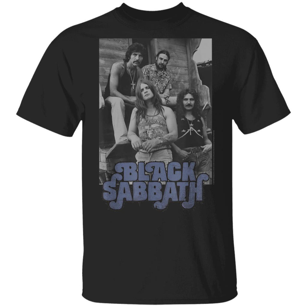 Black Sabbath Official B&W Band Photo T-Shirt