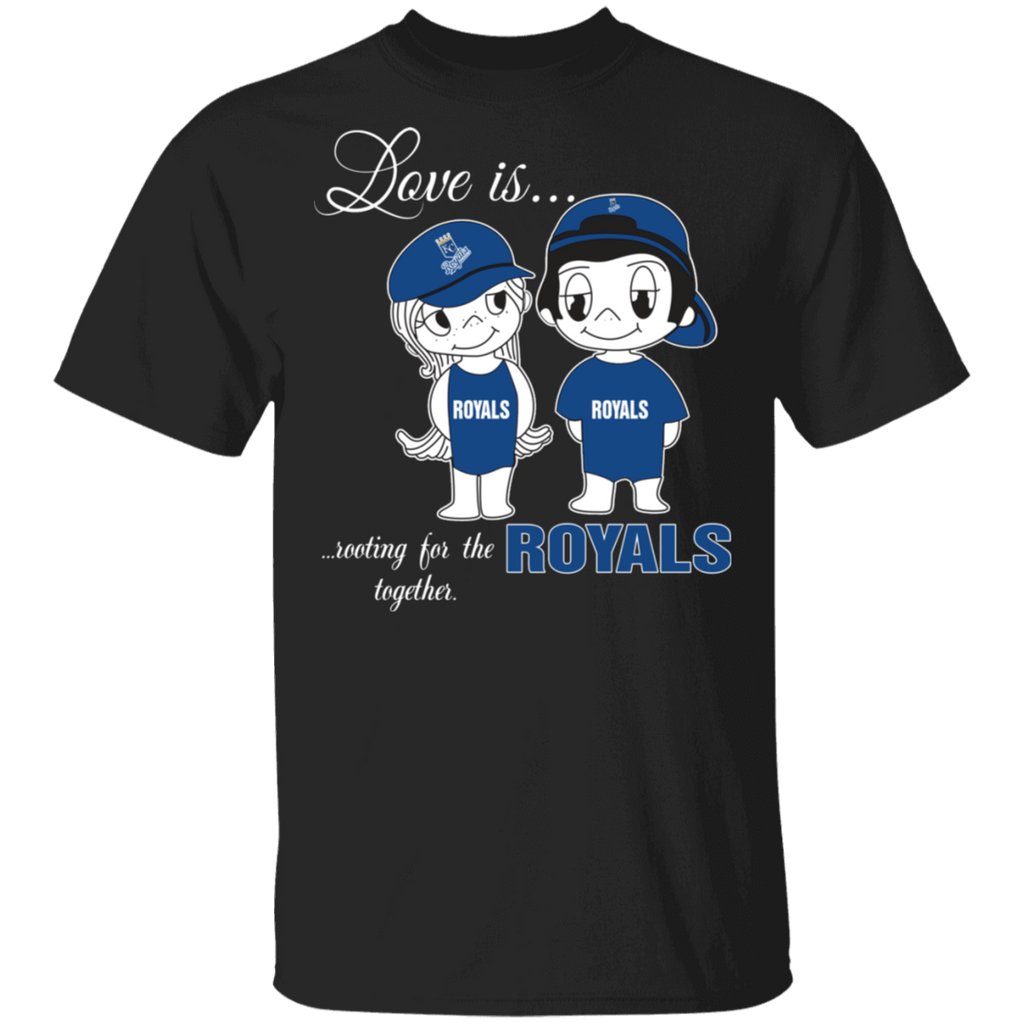 MLB Love Is Rooting For The Kansas City Royals Together T-Shirt