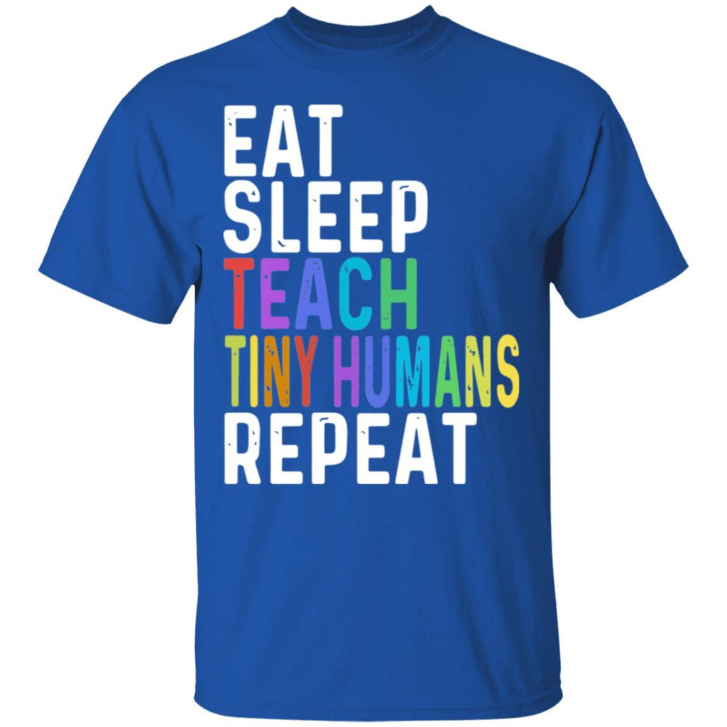 For Fun Eat sleep teach tiny humans shirt