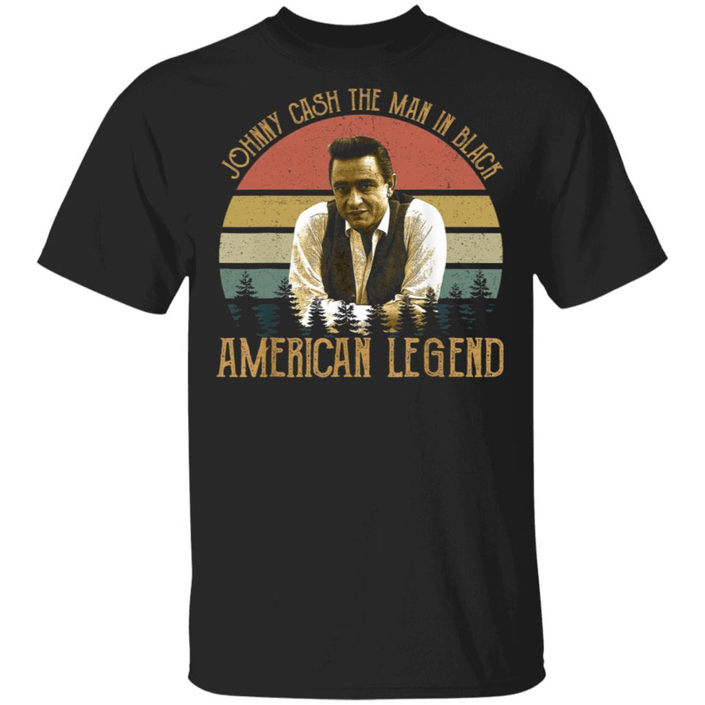 Vintage Johnny Cash Legends Live Forever For Men Women T-Shirt