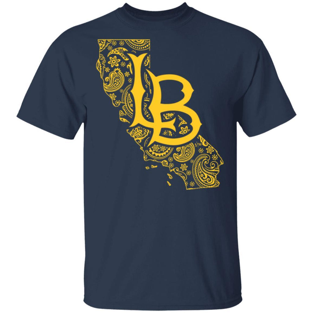 Long Beach State 49ers Paisley State T-Shirt