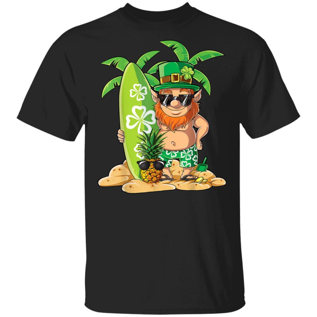 Leprechaun Hawaiian Surfing St Patricks Day Hawaii T-Shirt
