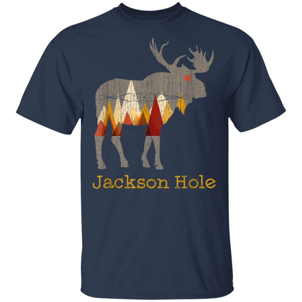 Vintage Jackson Hole Wyoming Moose Gift T-Shirt