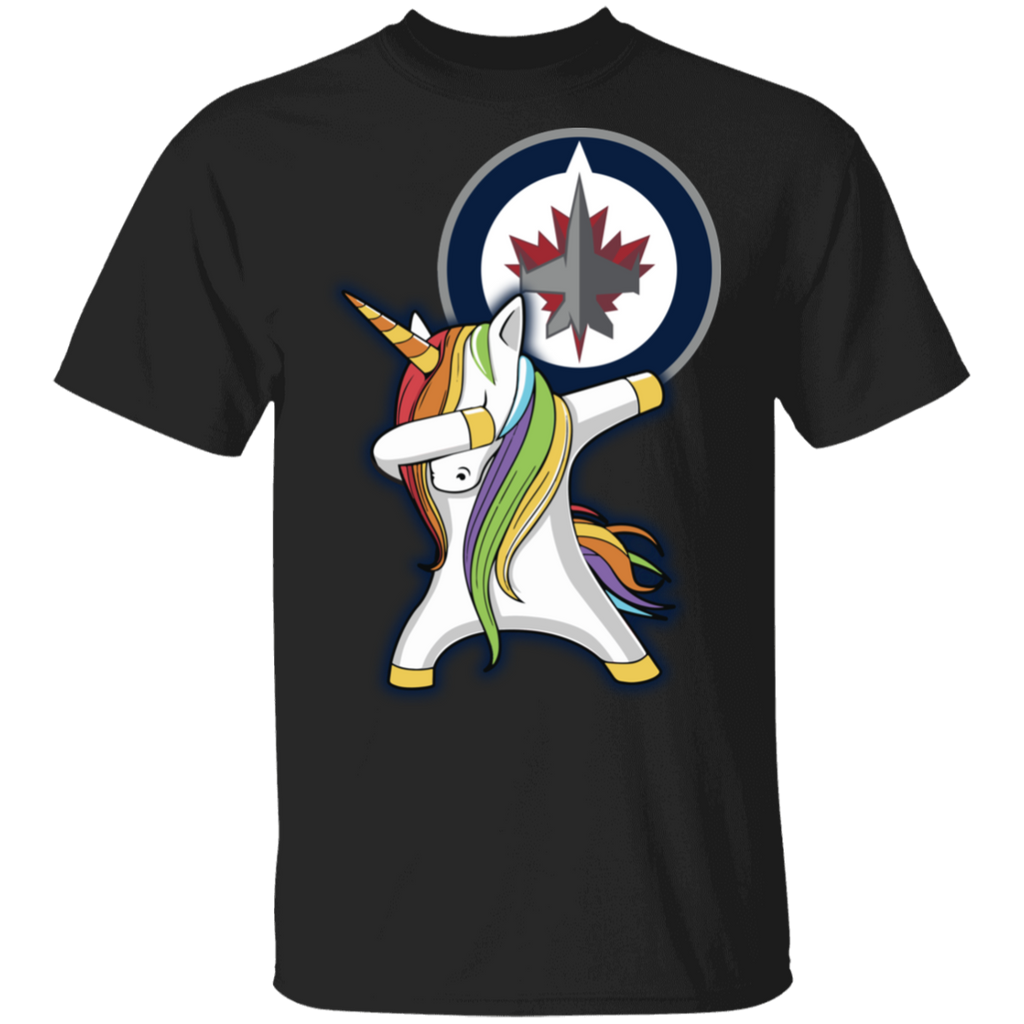 NHL Winnipeg Jets Hocky Dabbing Unicorn T-shirt