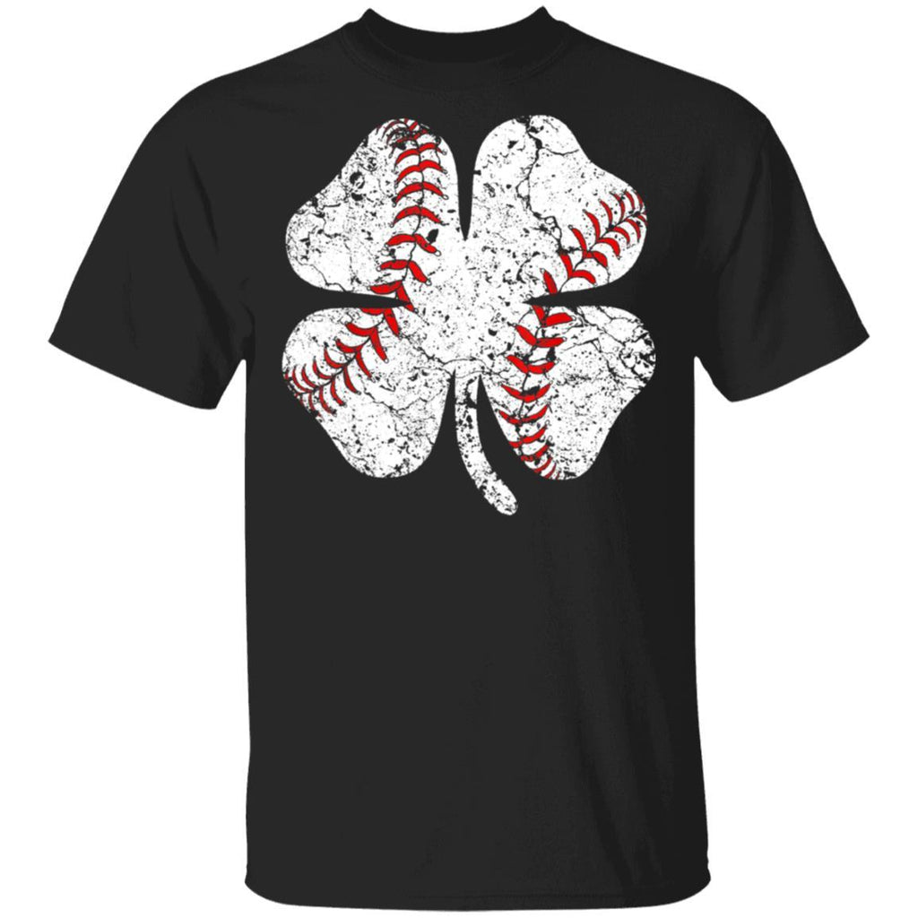 Baseball St Patricks Boys Men Catcher Shamrock T-Shirt