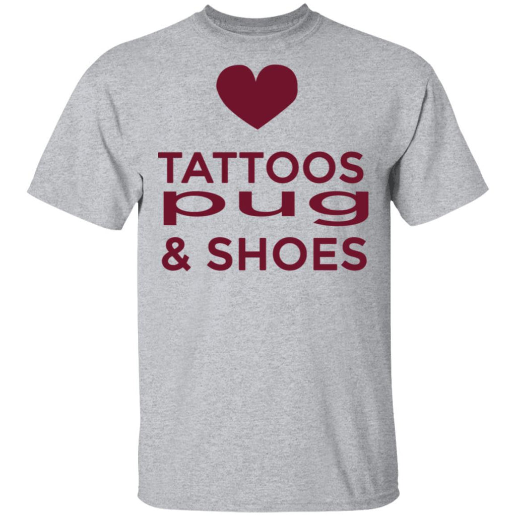 Pug - tattoos pug and shoes T-Shirt