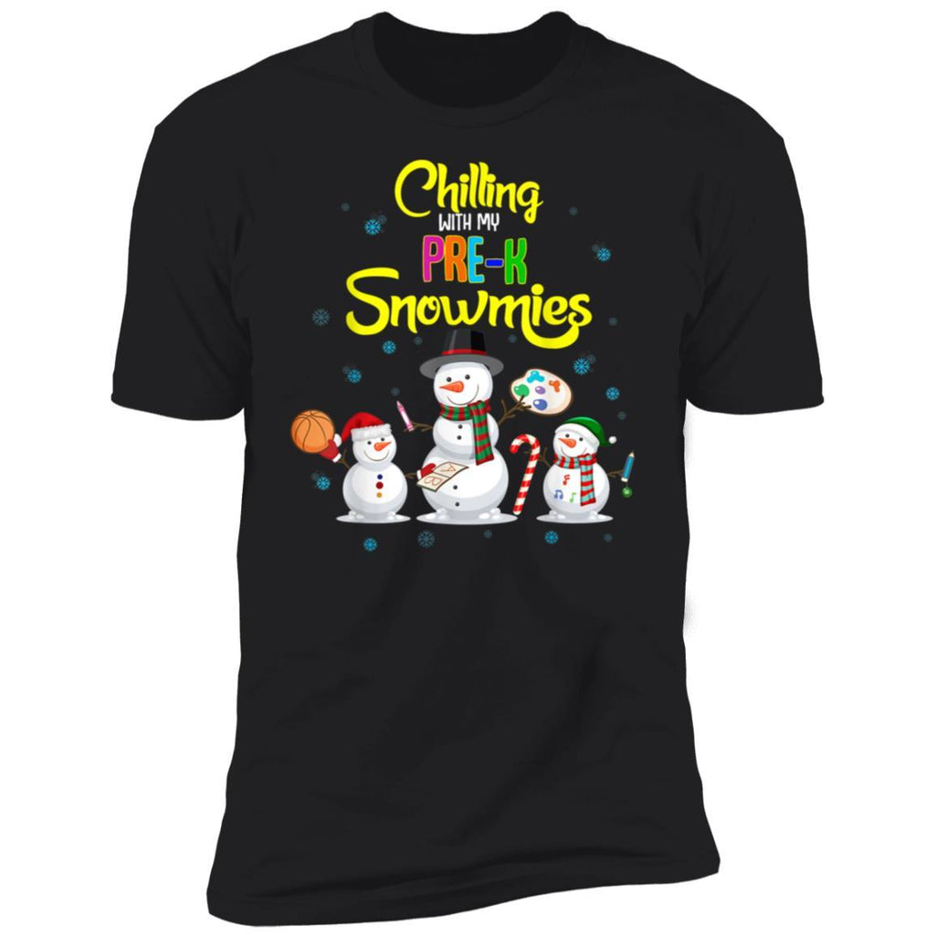 Chilling With My Pre-K Snowmies Matching Christmas Gift T-Shirt