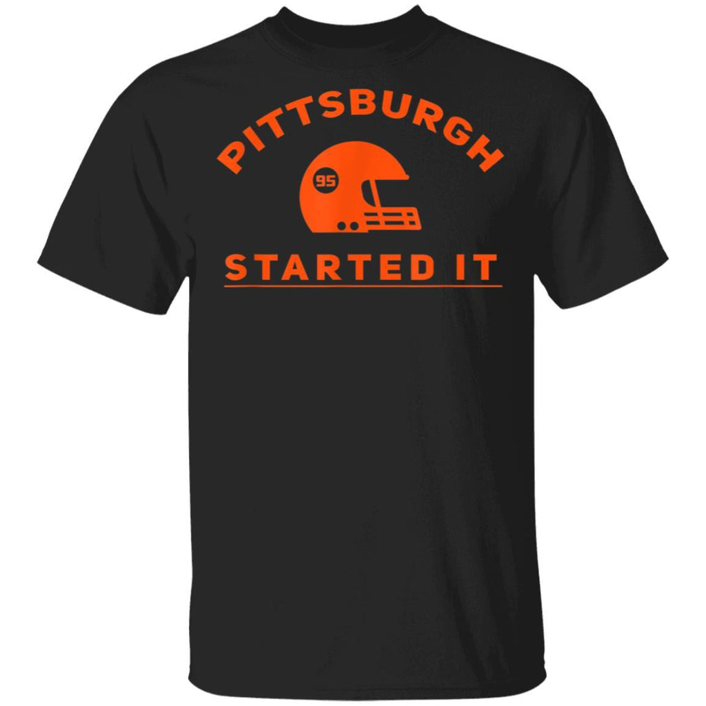 Pittsburgh Started It Helmet Gift T-Shirt