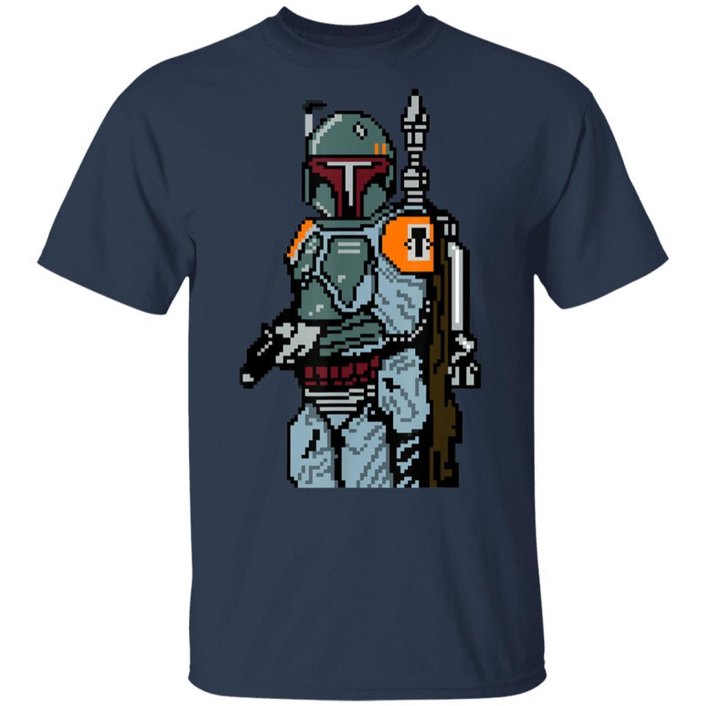 Star Wars 8-bit Pixel Boba Fett Bounty Hunter T-Shirt
