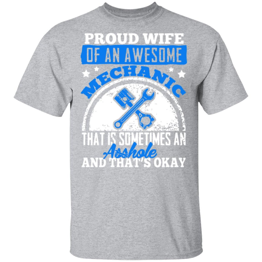Proud Wife Of An Awesome Mechanic T Shirt
