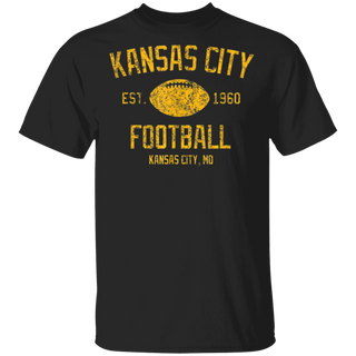 Vintage Kansas City Football Retro Classic 1960 Apparel Tee