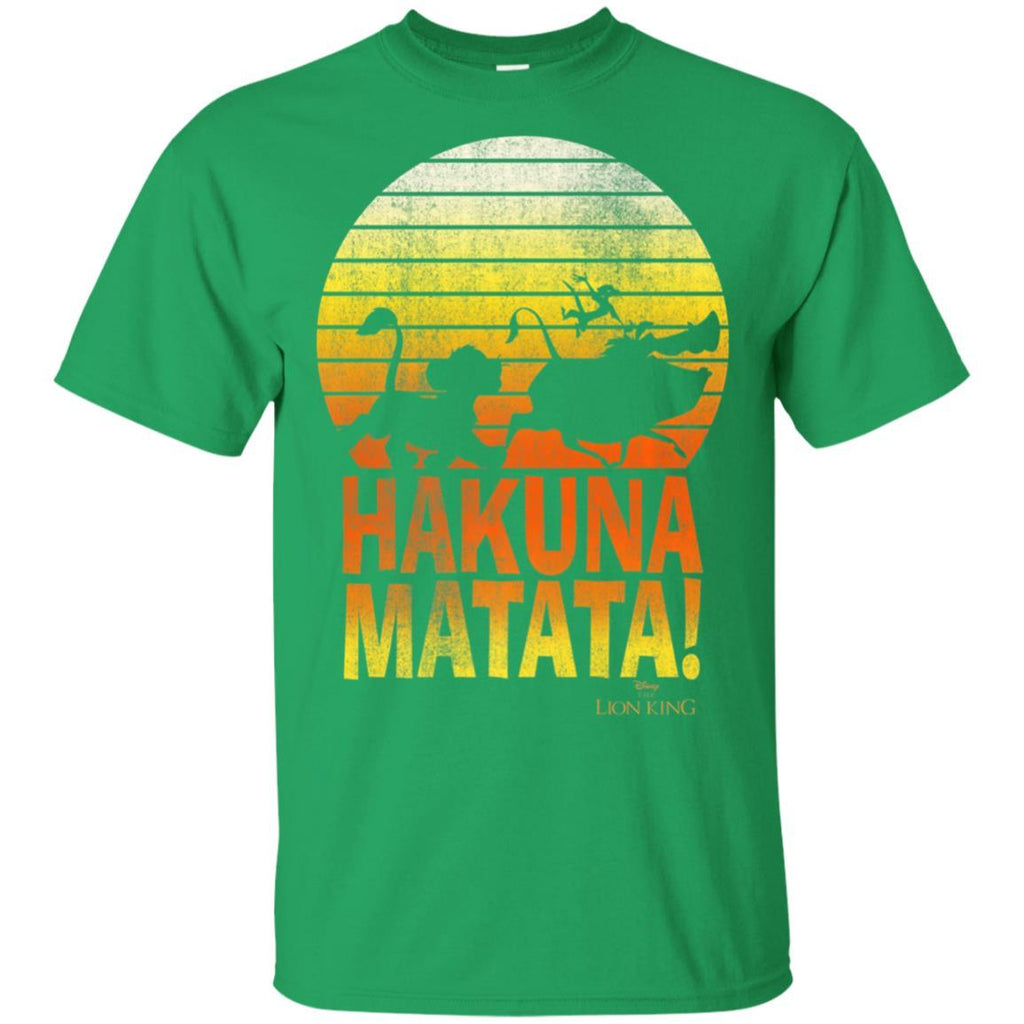 Disney Lion King Hakuna Matata Retro Distressed Group Shot T-Shirt