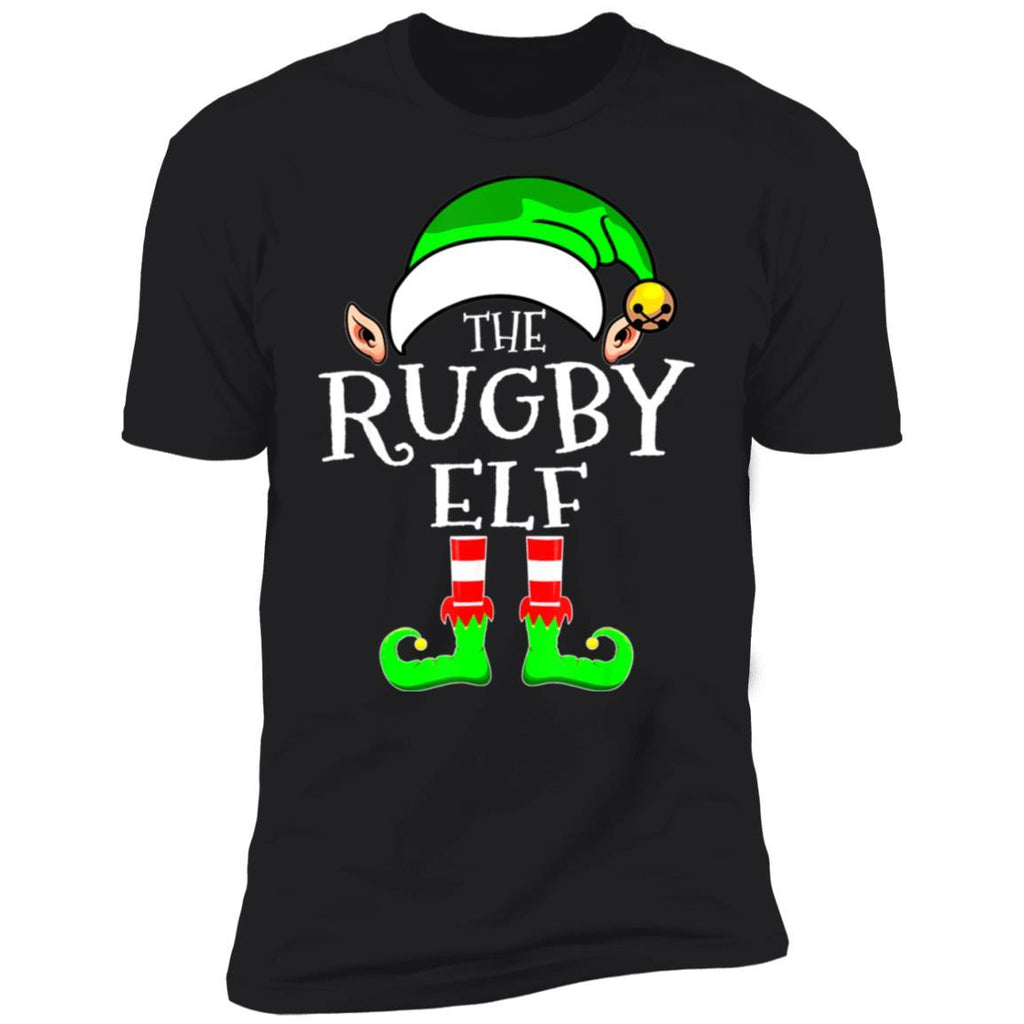 Rugby Elf Family Matching Group Christmas T-Shirt