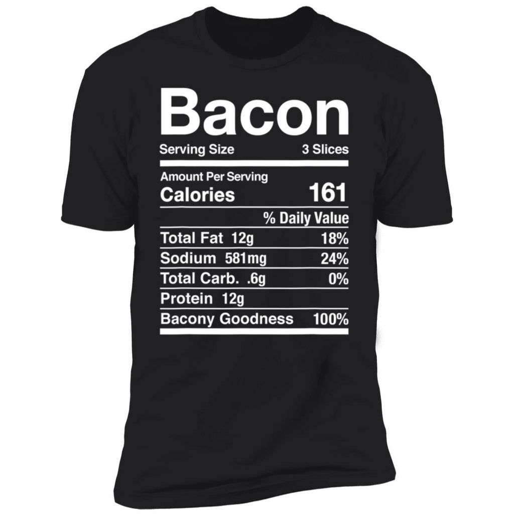 Bacon Nutrition Facts Thanksgiving Matching T-Shirt