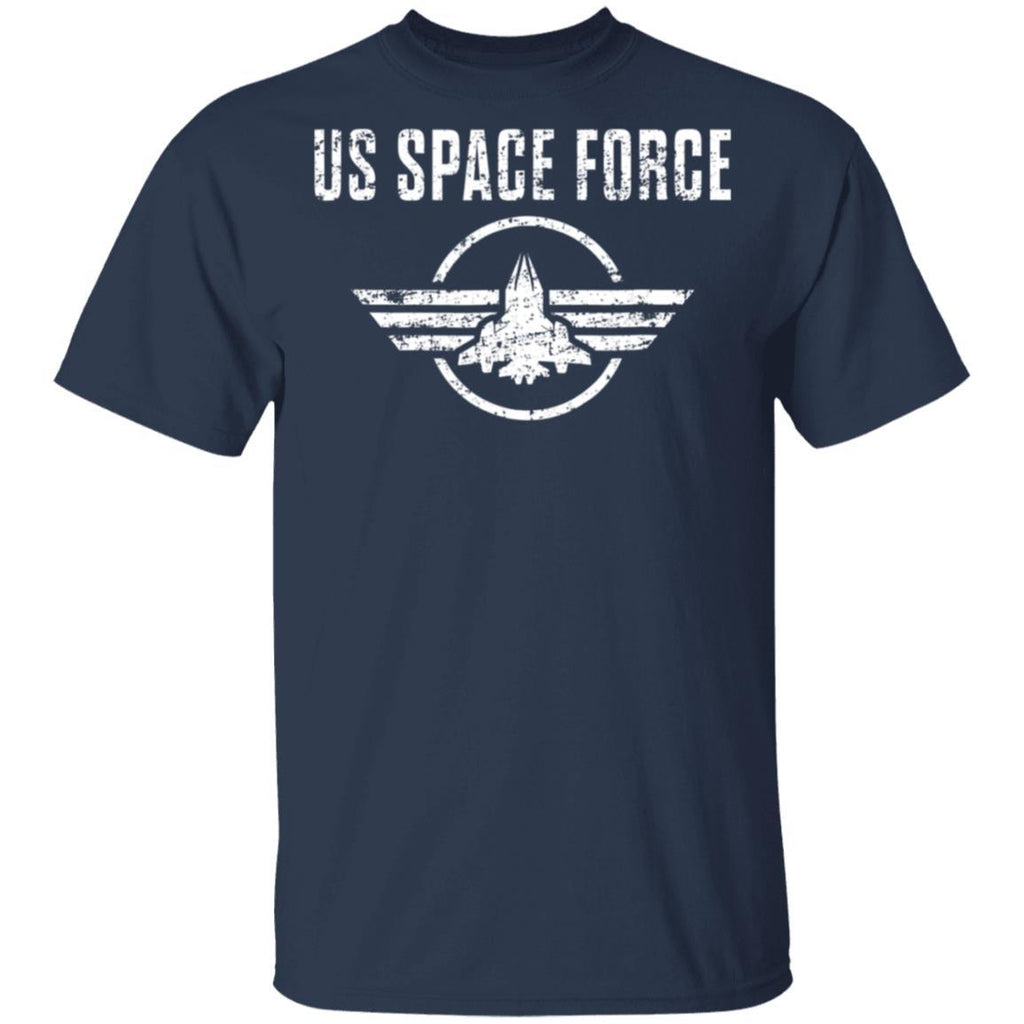 Space Force Gift USA Armed Forces Distressed T-Shirt