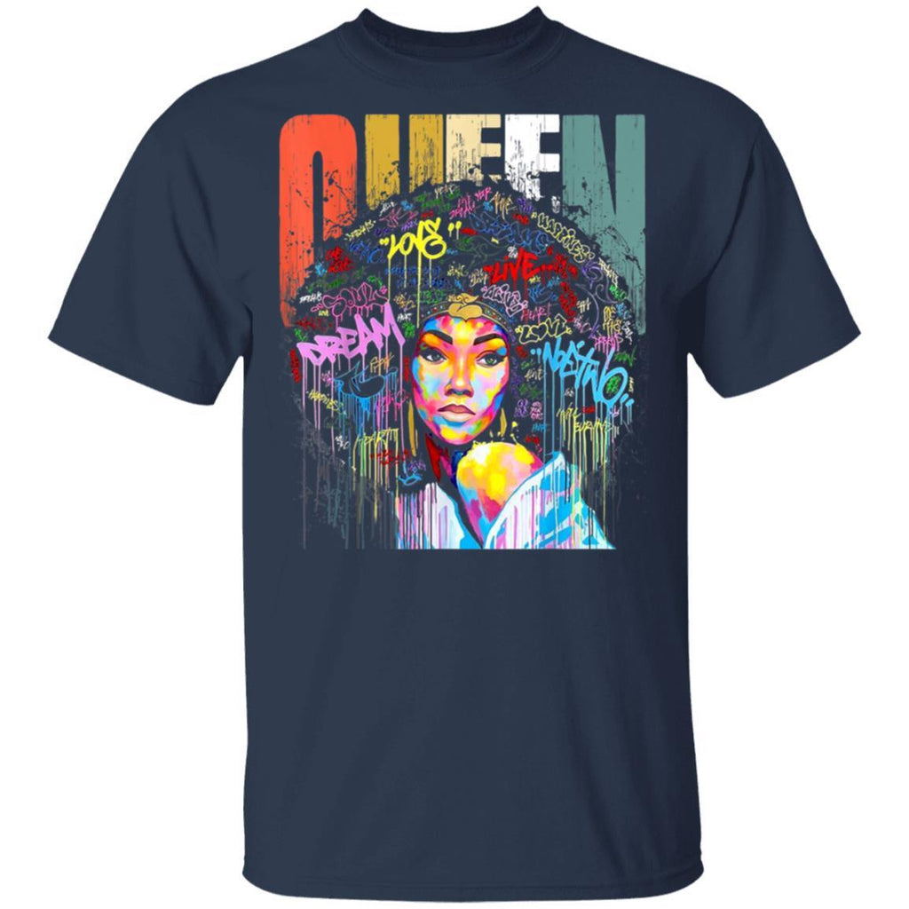 African American Queen Educated Strong Black Women T-Shirt
