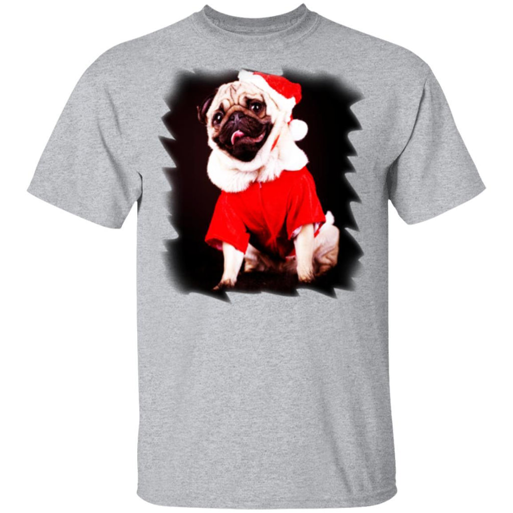 Pug Dressed As Santa Christmas Tshirt