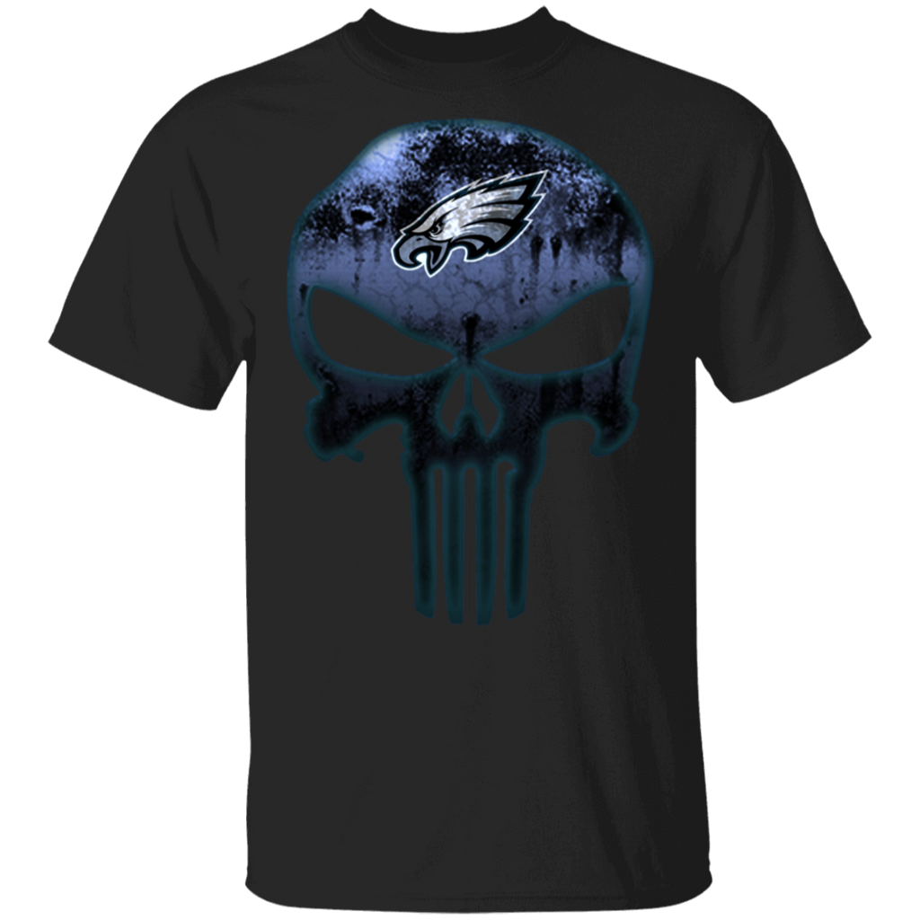 NFL - Philadelphia Eagles Football The Punisher Skull T-Shirt