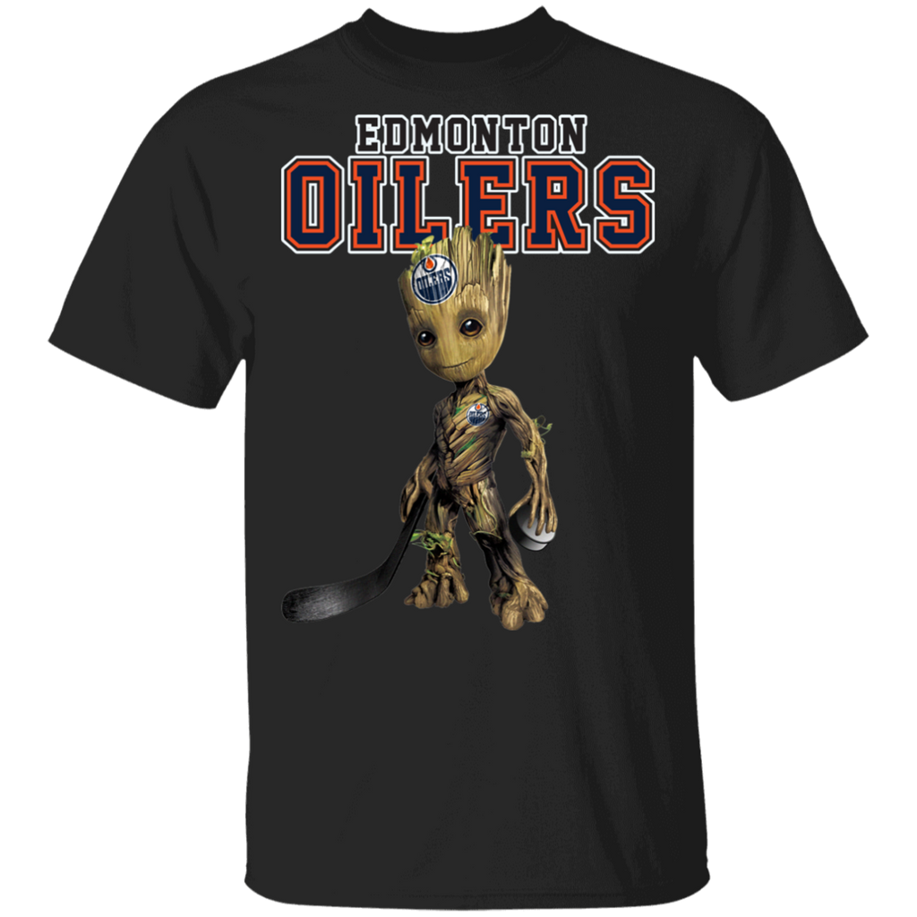 NHL - Edmonton Oilers Hockey Guardians of the Galaxy Groot T-Shirt
