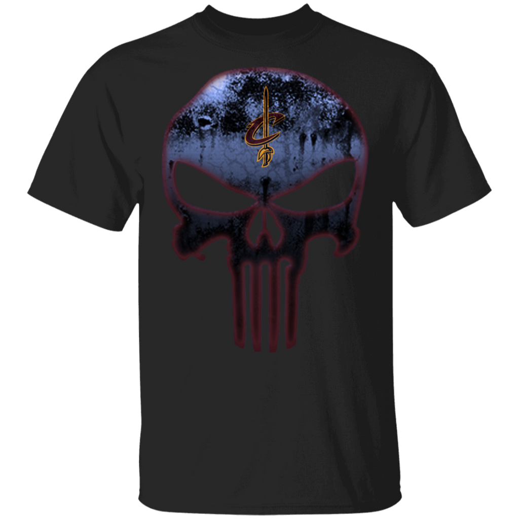 NBA - Cleveland Cavaliers Basketball The Punisher Skull T-Shirt