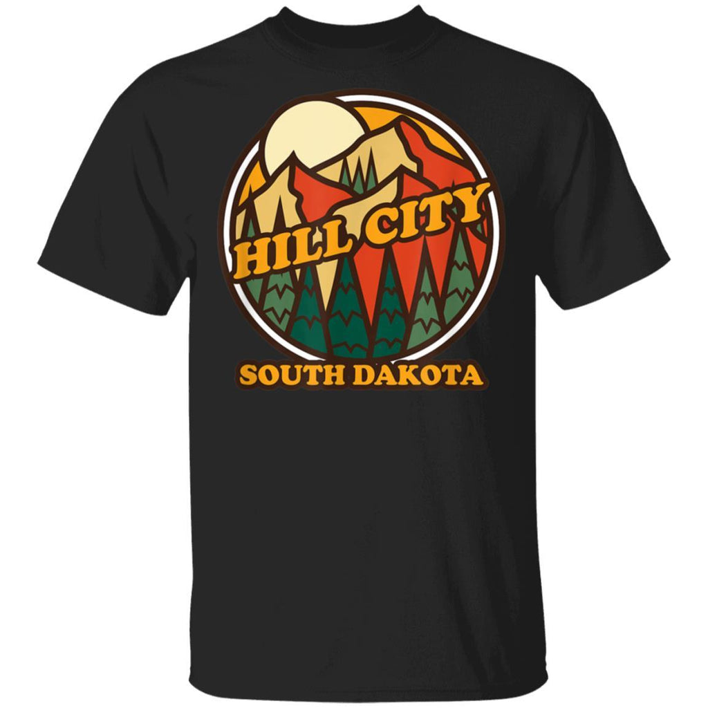 Vintage Hill City South Dakota Mountain Hiking Souvenir T-Shirt