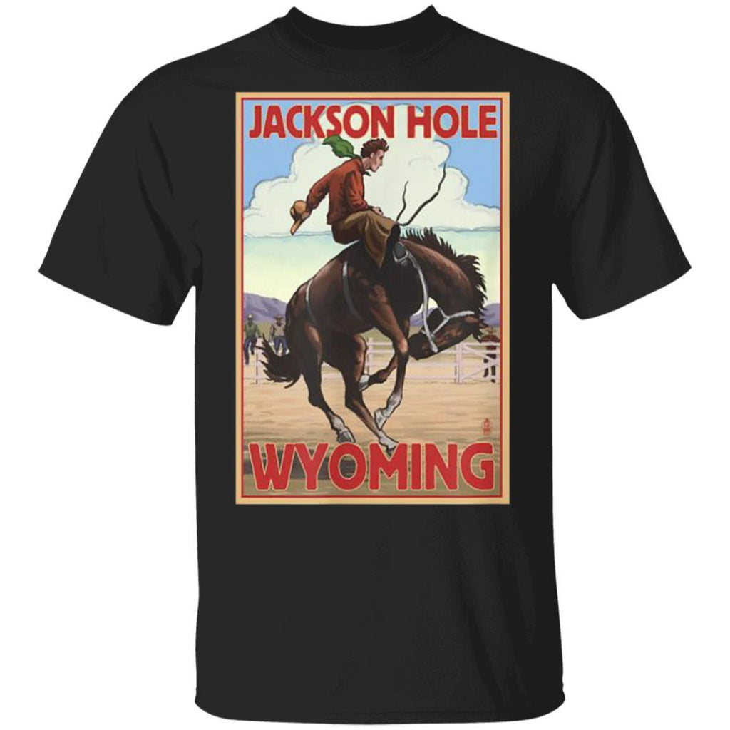 Jackson Hole, Wyoming Vintage Rodeo T-Shirt