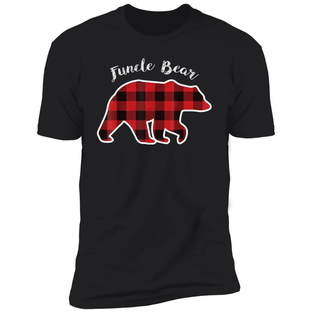 Funcle Bear Buffalo Plaid Christmas Shirt