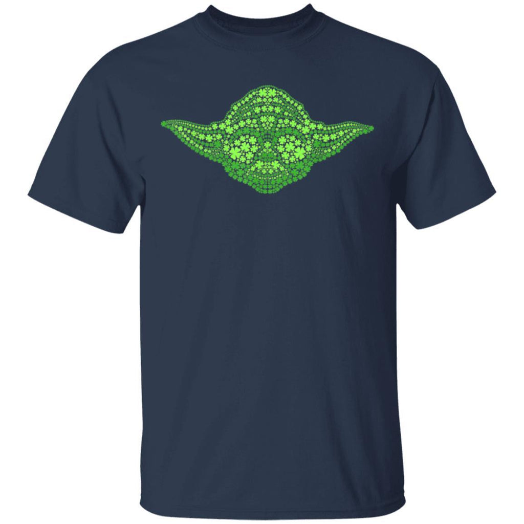 Star Wars Yoda Clover Face St Patrick's Day Graphic T-Shirt