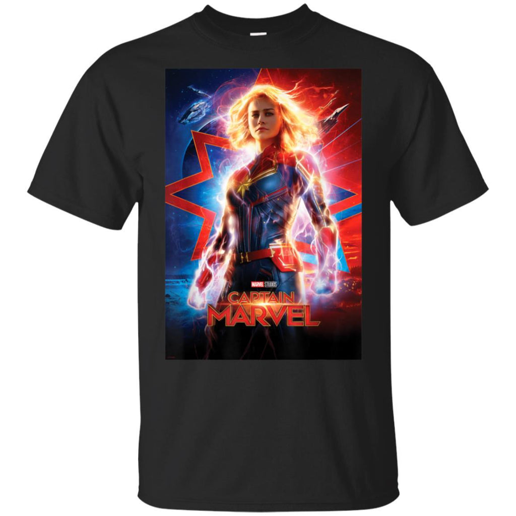 Captain Marvel Movie Poster Suited Up Graphic T-Shirt