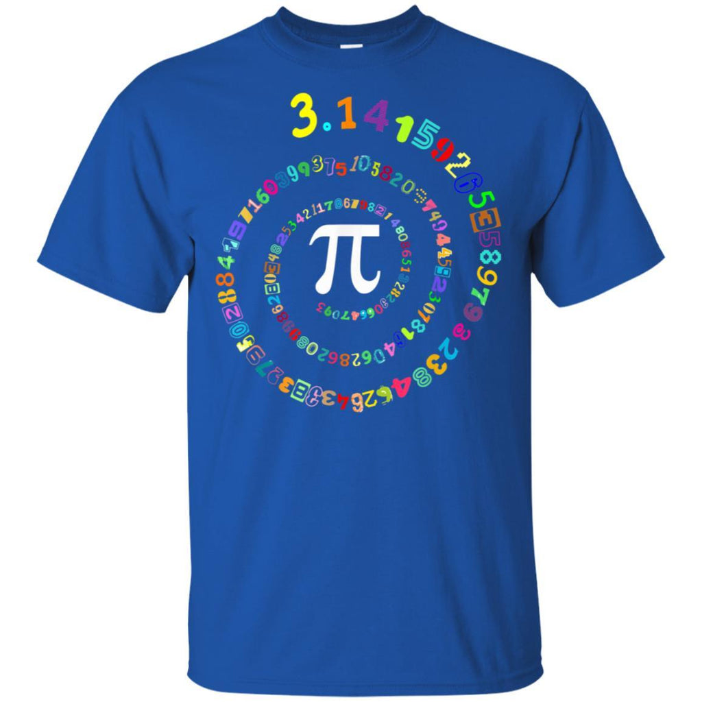 Pi Spiral Novelty Shirt for Pi Day Tshirt