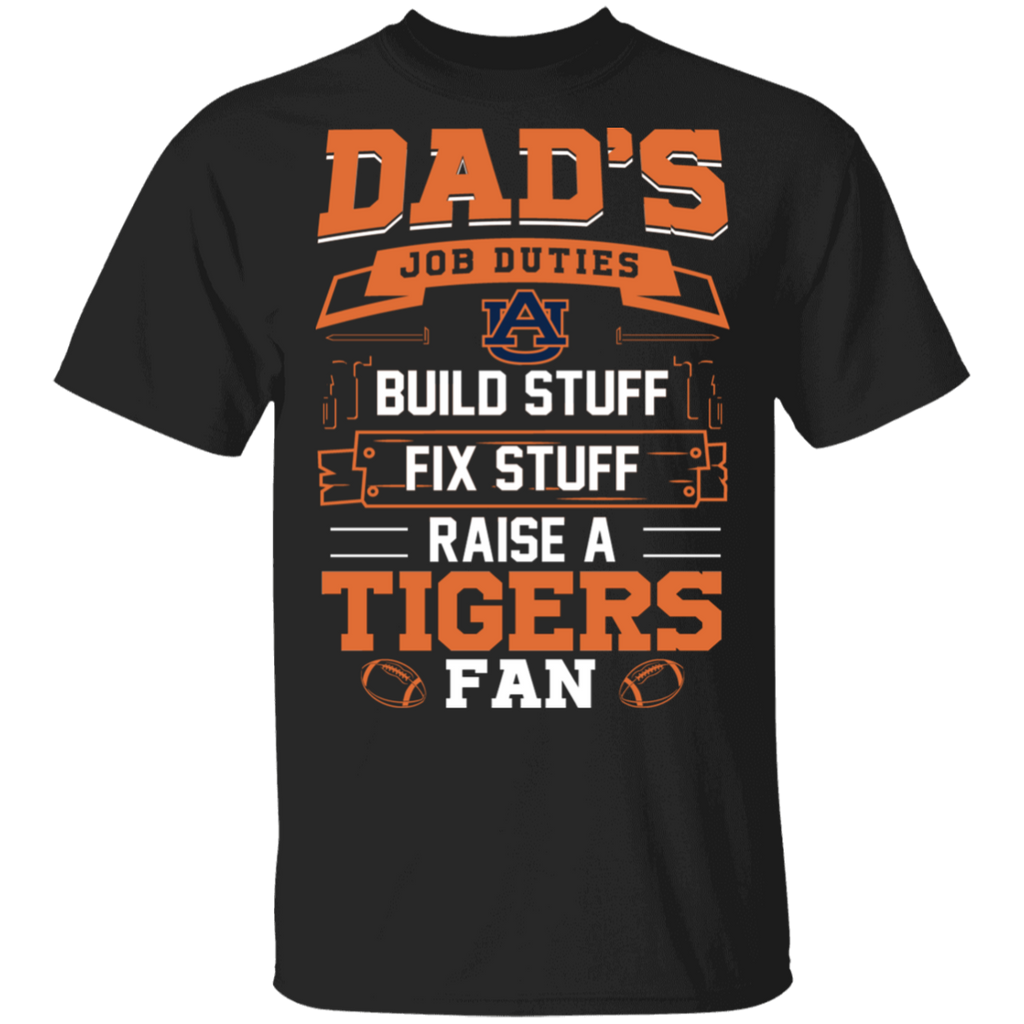 NCAA - Dad Raise a Auburn Tigers Fan Funny T-Shirt