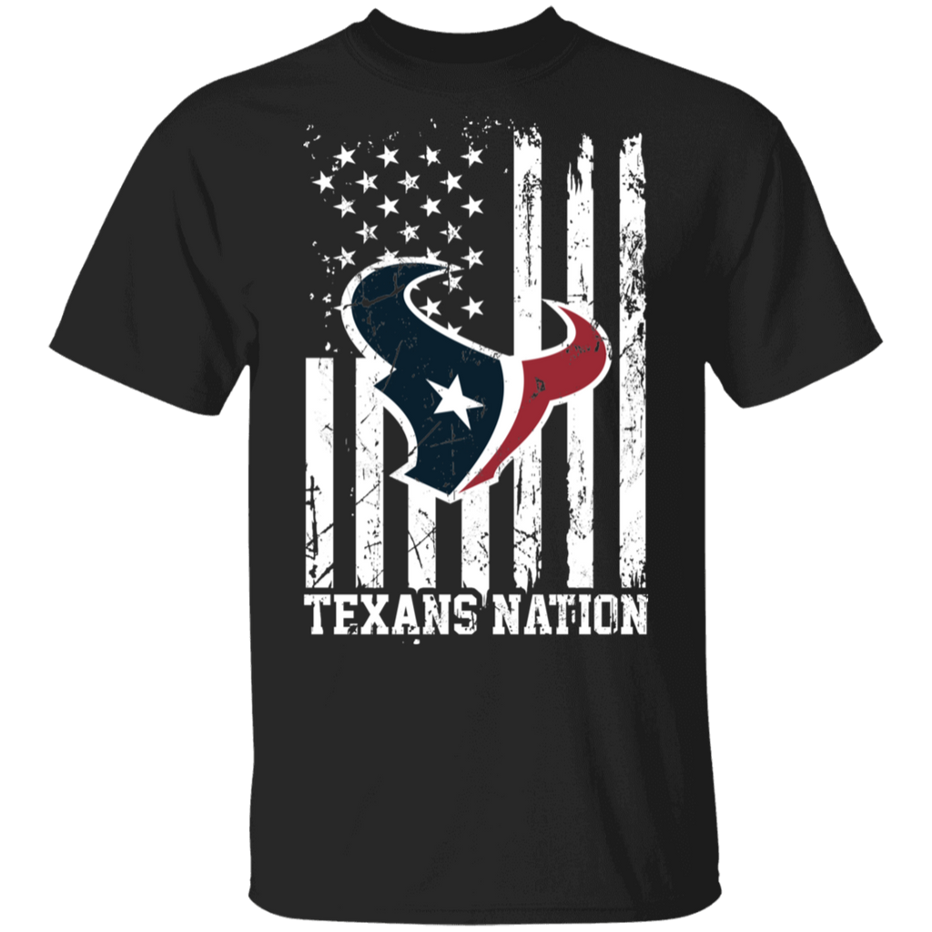 NFL Houston Texans Logo American Flag T-Shirt