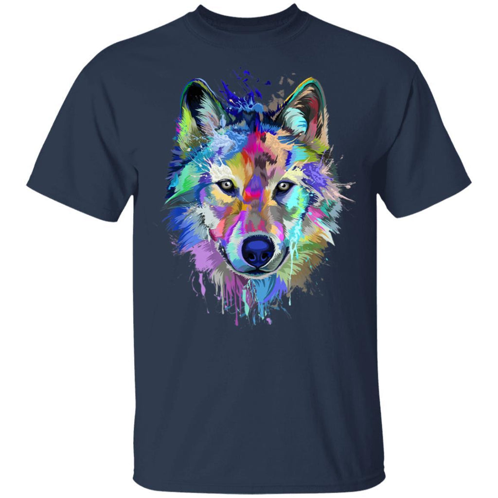 Splash Art Wolf  Gifts for Wolf lovers T-Shirt