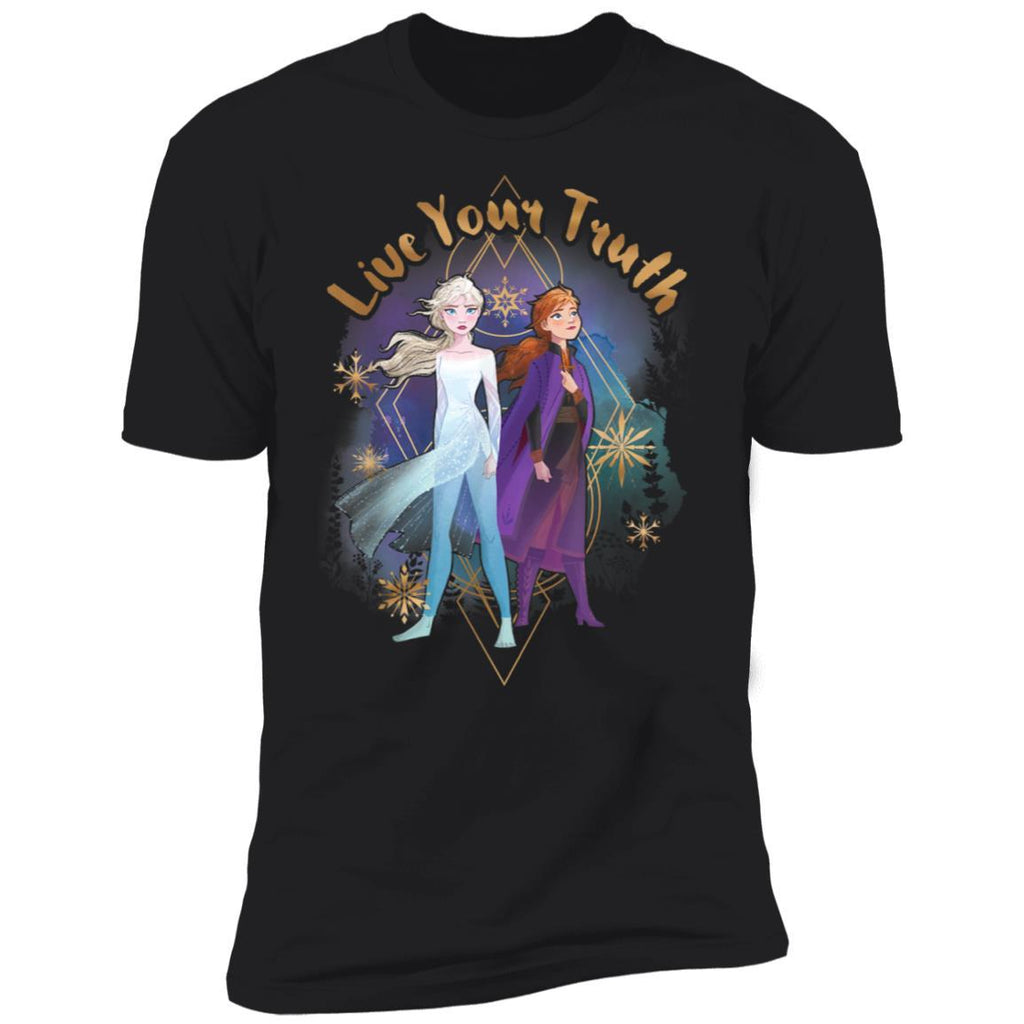 Disney Frozen 2 Elsa Anna Live Your Truth Geometric Portrait T-Shirt