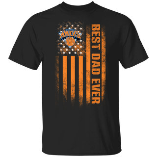 NBA - New York Knicks Best Dad Ever USA Distressed Flag T-Shirt
