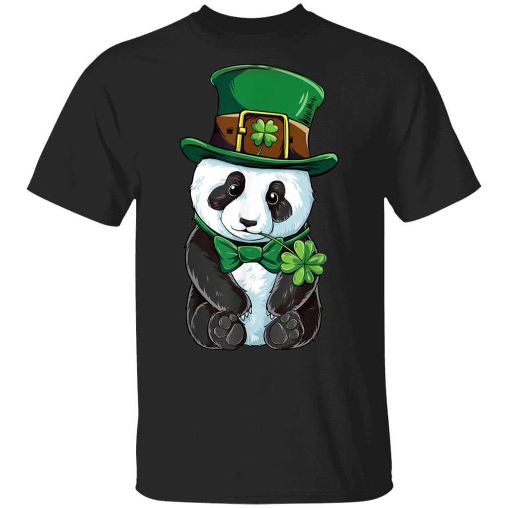 St Patricks Day Leprechaun Panda Cute Irish Gift T-Shirt