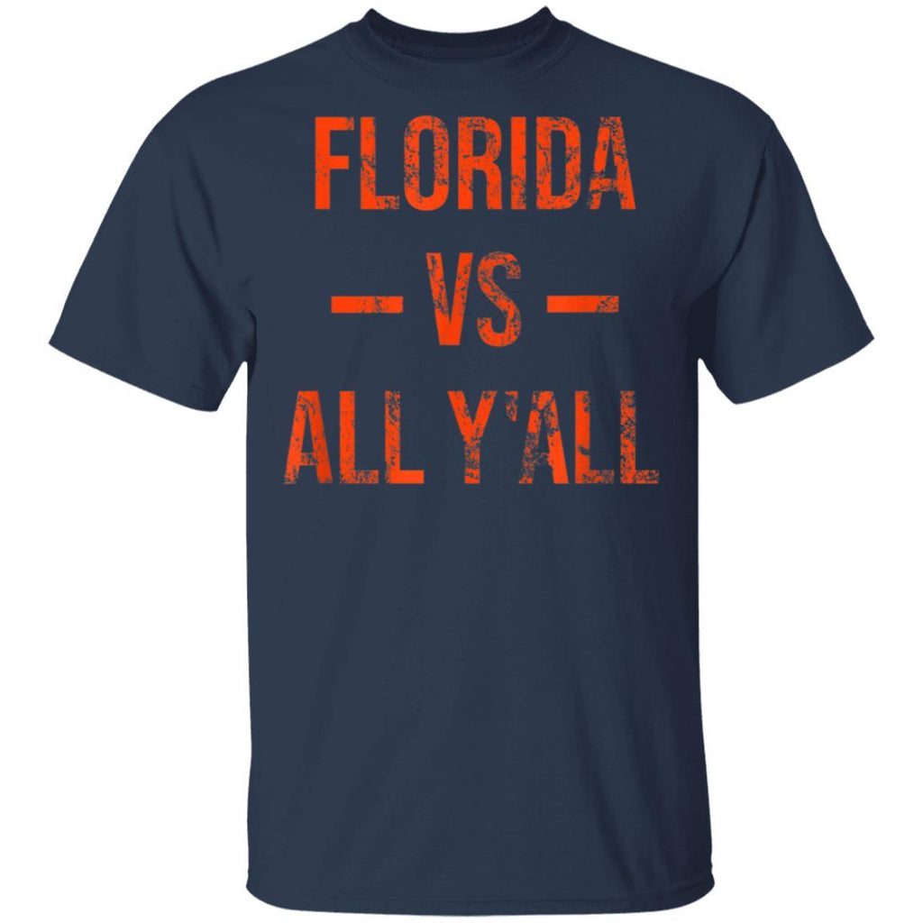 Florida Vs All Y'All Vintage Weathered Southerner T-Shirt