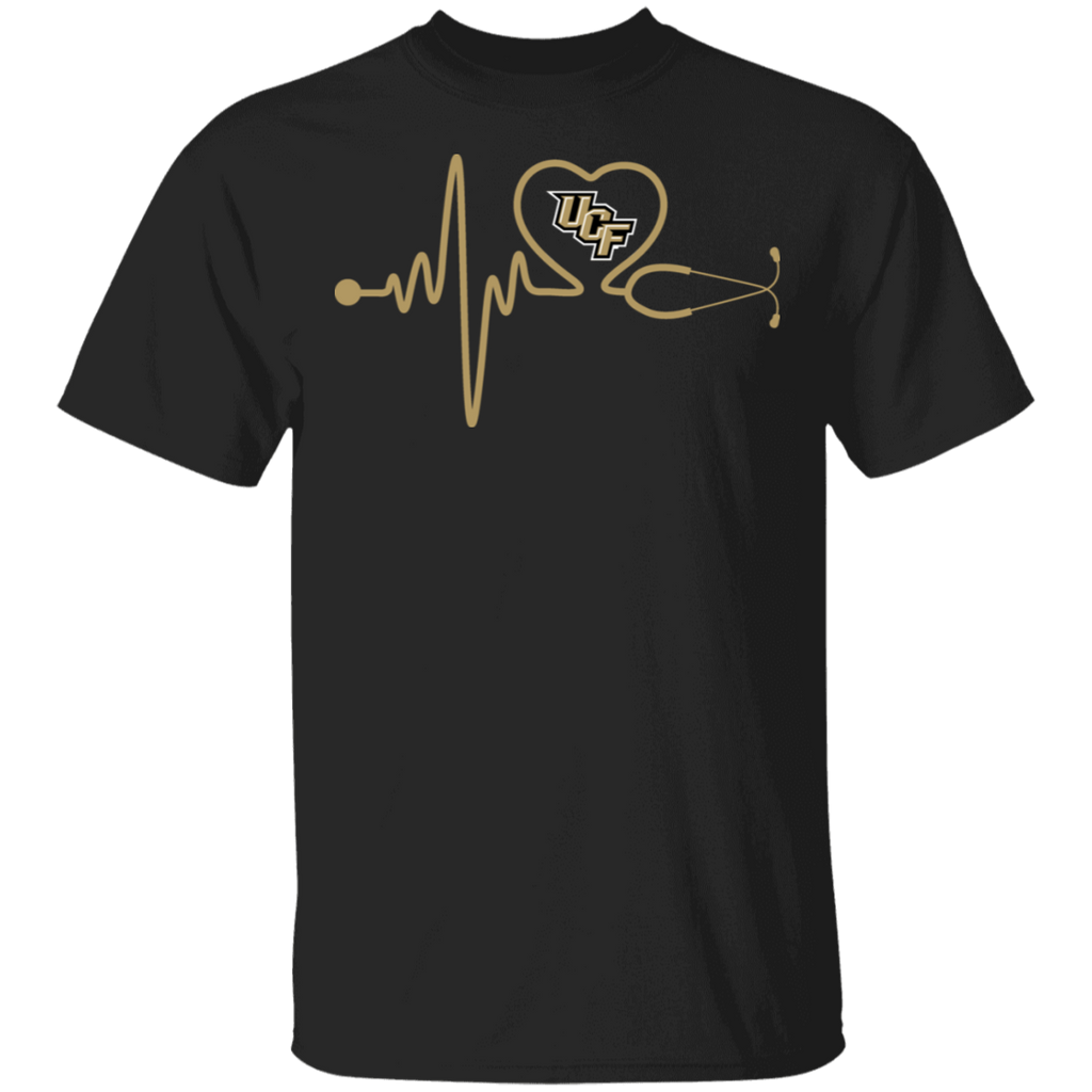 NCAA - UCF Knights Nurse - Stethoscope Heartbeat T-Shirt