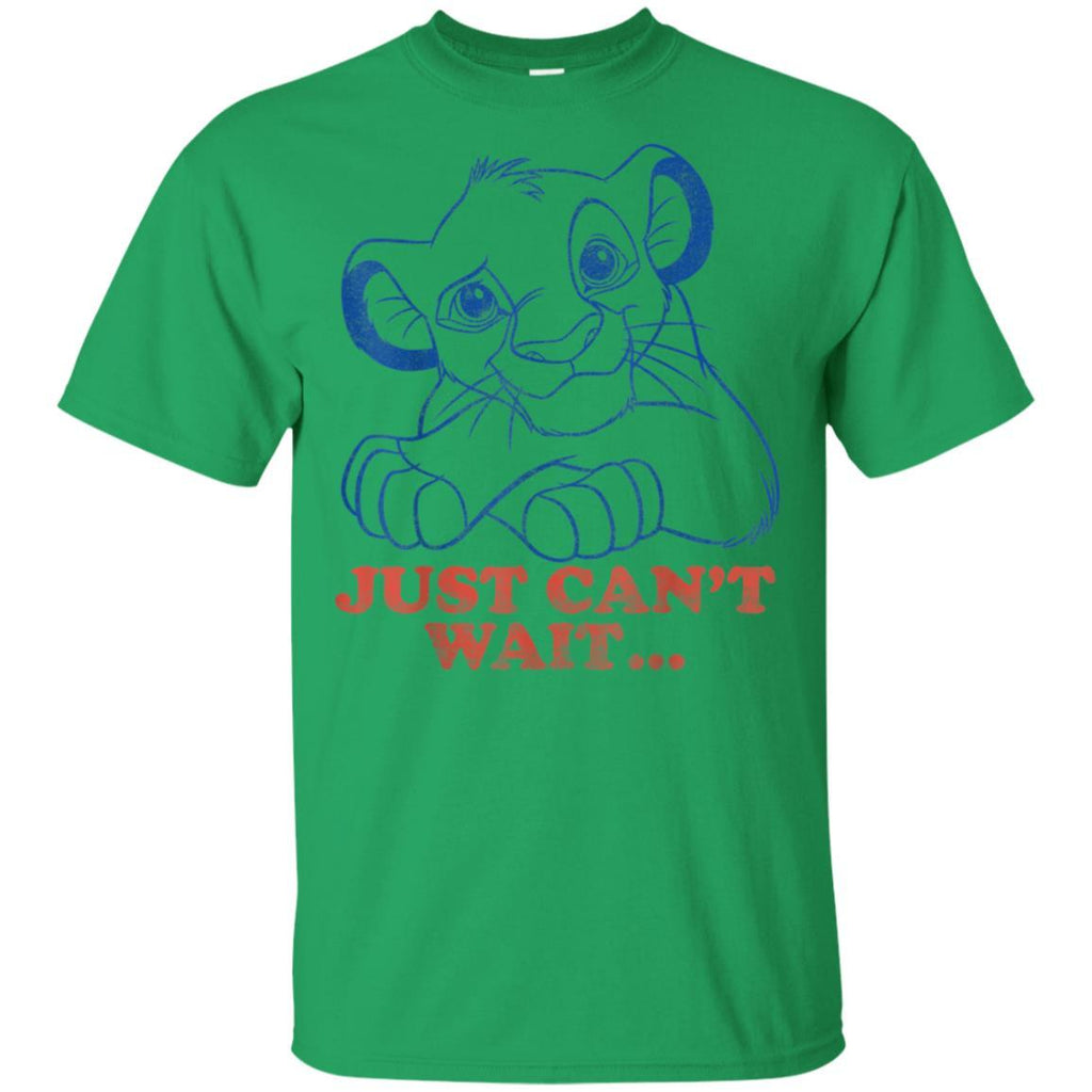 Disney Lion King Simba Just Can't Wait Outline Poster T-Shirt