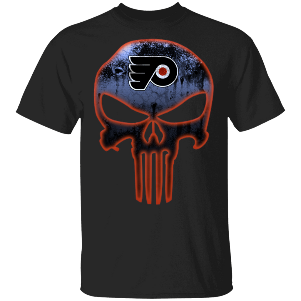 NHL - Philadelphia Flyers Hockey The Punisher Skull T-Shirt